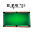 realistic billiard table american pool vector image vector image