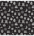 Seamless Halloween silver textured pattern vector image vector image