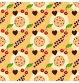 Seamless pattern with delicious chocolate chip vector image