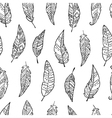 Seamless pattern with monochrome hand drawn ornate vector image