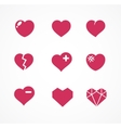 Set love signs 9 hearts icons