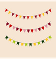 set of colored flags holiday vector image vector image