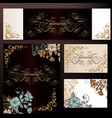 set of luxury templates for wedding design vector image