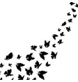 silhouette black fly flock of butterflies vector image vector image