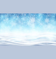 snowfall background for christmas and new year vector image