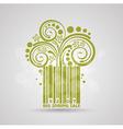 Spring sale design Green stroke code Fresh vector image