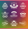 summer holidays labels and badges retro typography vector image vector image