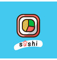 sushi logotype template vector image