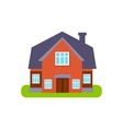 Terracota Family Cottage Suburban House Exterior vector image