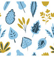 trendy seamless pattern with hand drawn plants vector image vector image