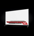 tv realistic flat screen lcd with news bars vector image vector image