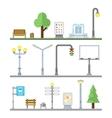 Urban landscape icons Traffic lights lanterns vector image vector image