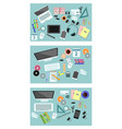 variants of equipment desktop vector image vector image