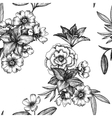 vintage floral seamless pattern vector image vector image