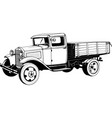 vintage truck with body 1920s monogram black vector image vector image