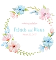 Watercolor floral wreath vector image