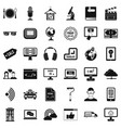 Web site icons set simple style