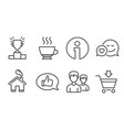 Winner podium feedback and couple icons dating vector image