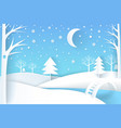 winter landscape with river and white snowy trees vector image vector image