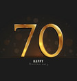 70 years happy anniversary card vector image vector image