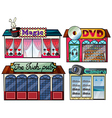 Amusement area dvd and camera shop vector | Price: 1 Credit (USD $1)