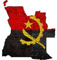 Angola map with flag inside vector image vector image