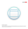 application window interface icon - white circle vector image vector image