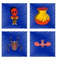 assembly flat shading style icon halloween monster vector image vector image