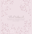 background from silhouettes of flowers vector image