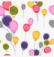 birthday balloon seamless pattern art background vector image
