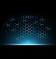 blue abstract hexagon technology vector image vector image