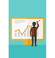 Businessman presenting report vector image vector image