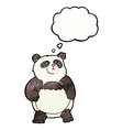 cartoon panda with thought bubble vector image