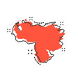 cartoon venezuela map icon in comic style vector image vector image