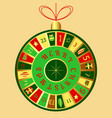 christmas advent calendar christmas tree toy vector image