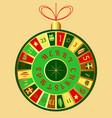 christmas advent calendar christmas tree toy vector image vector image