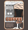 coffee cup espresso drink and coffeemachine vector image