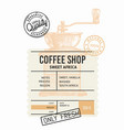 coffee package with text and coffee grinder vector image vector image