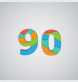 colorful papercut layered number vector image vector image