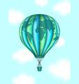conceptual art of hot air balloon with world map vector image vector image