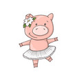 cute little sweet charming cartoon dancing girl vector image vector image