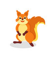 cute red squirrel with shiny eyes rodent with vector image vector image