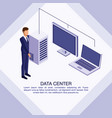 data center poster with informaton vector image vector image
