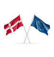 denmark and european union waving flags vector image
