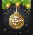 design for seasonal winter sale vector image vector image