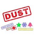 Dust Rubber Stamp vector image vector image