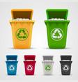 ecological trash set vector image vector image