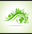 Ecology Concept - eco cityscape with earth vector image vector image
