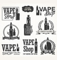 elements for vapor bar and vape shop electronic vector image