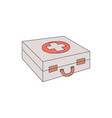 first aid kit case with red vector image vector image